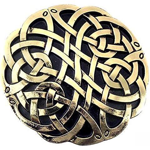 Buckle Nudos celtas, 24 ct. Oro, Hebilla