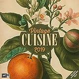 Vintage Cuisine 2019, Wandkalender / Broschürenkalender im Hochformat (aufgeklappt 30x60 cm) - Geschenk-Kalender mit Monatskalendarium zum Eintragen
