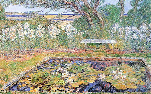 Das Museum Outlet - A Garden auf Long Island by Hassam - A3 Poster