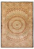 Morgenland Seidenteppich Kaschmir Reine Seide 287 x 197 cm Handgeknüpft