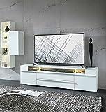 lifestyle4living Lowboard, TV-Lowboard, Fermsehtisch, Kommode, Sideboard, modern, TV-Board, Unterschrank, matt, weiß, Fernsehschrank, TV-Unterschrank