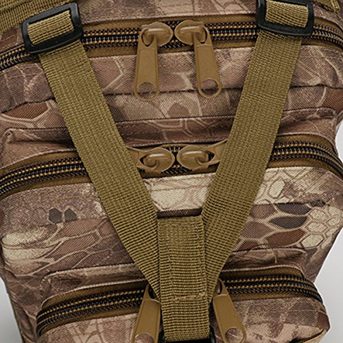 Bai Sie Mei Multifunktionale Camouflage Schultern Tasche, Outdoor Bergsteigen Rucksack, Mehrzweck Daypacks, Rucksack, Tactical Military Sportpack, Camping Wandern und Angeln 25L Pattern04