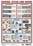 Poster Knoten, Stiche und Bunde