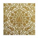 Napkin 33 x 33 Elegance Präge Servietten Jaipur creme/gold 15 St.-Pg.