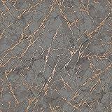 Fine Decor FD42267 Tapete, metallisch, mit Marmor-Design, Anthrazit/Grau und Kupfer