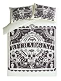 Stylish George Home Day of the Dead Sugar Skull Tattoo Mandala Duvet Set SINGLE - 135 x 200 cm and two pillowcase 48 x 74 cm