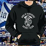World of Football Kapuzenpulli Sons of Karlsruhe Sportclub schwarz - XXL