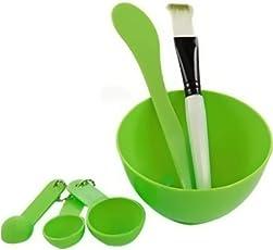 BOXO Face Mask Tool Mask Bowl Brush Spoon Stick Face Skin Care Make Mask Set for Women, Multicolored, 30 Gram, Pack of 1