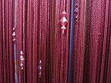 Acryl-Kristall-Perlen Vorhang Fenster Türpassage Teiler Dekor Weinrot