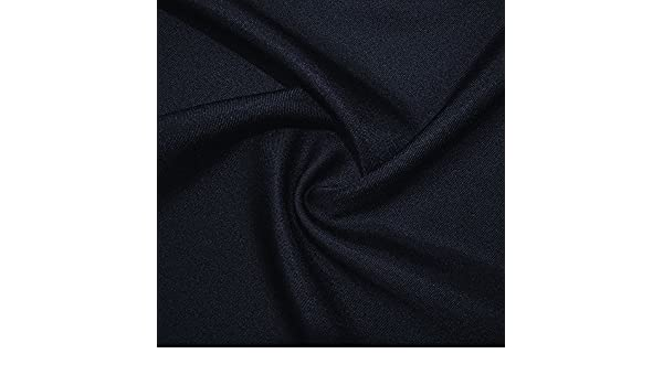 Navy Textured Polyester Twill Fabric C6422