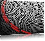 DJ piatto Astratta nero / bianco Dimensioni: 120x80 su tela, XXL enormi immagini completamente Pagina con la barella, stampa d'arte sul murale con telaio, più economico di pittura o un dipinto a olio, non un manifesto o un banner,