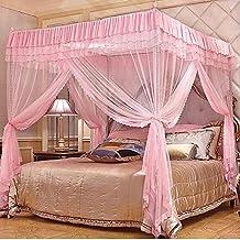 Palast Vier Ecke Moskitonetz Bett Baldachin Set, Edelstahl Halterung  Bodenstehende 3 Türer Prinzessin Haushalt