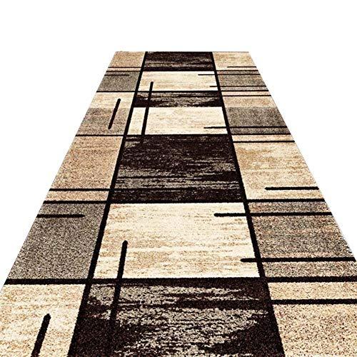 KKCF Läufer Teppiche Flur rutschfest Volle Farbe Nicht Verblassen Fleckenresistent Einfach Zu Säubern Anti-Verschütten Ballaststoff,2 Farben (Color : B, Size : 0.8x4m)