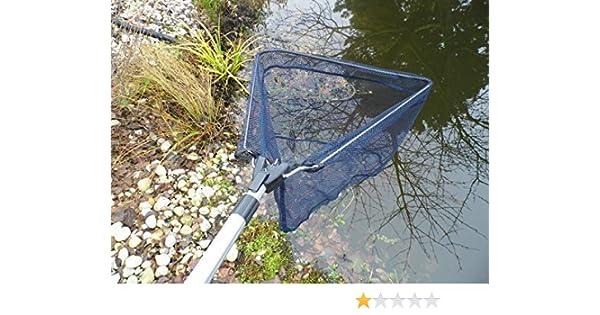 Laub kescher fischkescher für teich und pool alu teleskop 2 40cm