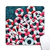 POGJY Tapis de Souris Gaming Mousepad Conception de bouée de Sauvetage Base en Caoutchouc Antidérapant Surface Spéciale Texturée résistant à Usure 1T2910