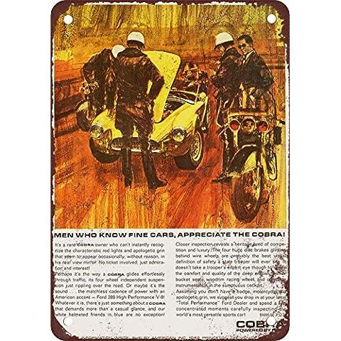 1964Shelby Cobra y la Policía aspecto Vintage reproducción Metal Tin Sign 7X 10pulgadas