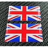 United Kingdom Union Jack Drapeau Triumph Paire 3d en forme de dôme Autocollant