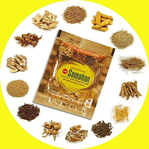 Kräutertee Samahan ayurveda ayurvedic herbal natürlicher Tee, gute und effektive Vorbeugung und Linderung von Erkältungen und erkältungsbedingten Symptomen, 60 Päckchen je 4g (Telefonnummer Kontakt Für Amazon)