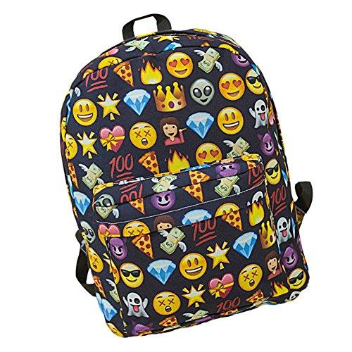 SAMGU Zaino Donne Zaino Viaggio Borsa Backpack Emoji Scuola profondo blu