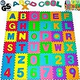 Tappeto Puzzle 86 pezzi con numeri e lettere colorati in morbida gomma EVA resistente, isolante, lavabile –-Tappeto da gioco per bambini Superficie gioco Tappeto per giocare Tappeto colorato