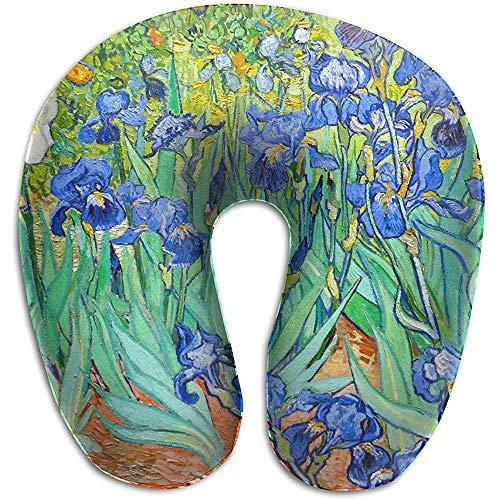Van Gogh Iris Flowers Memory Foam-Reisekissen -