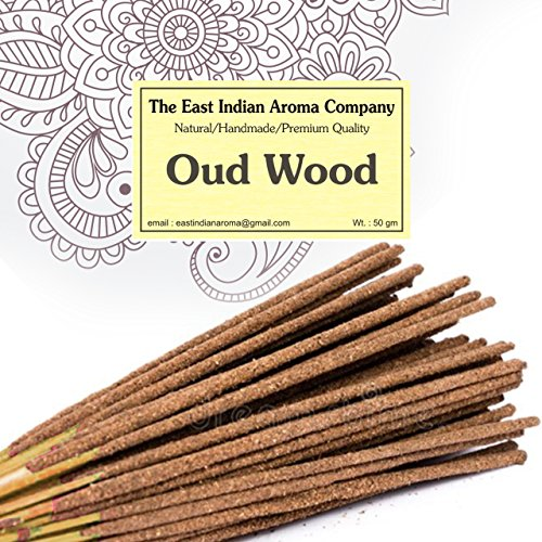 39829af929 The East Indian Aroma Company Special - Pure Natural Oud Wood Incense -  Handmade - 50