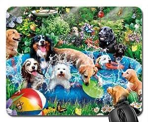 Pool Party Tapis de souris, tapis de souris tapis de souris (Chiens)
