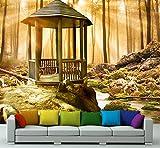 Premium-Vliestapete XXL Pavillon im Wald Fototapete Premium brilliante Farben Vliestapete | XXL 400 x 280 cm - 8 Bahnen | Papier
