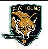 Metal Gear Solid Fox Hound Spezialeinheiten Logo Patch   Stickerei Hohe Qualität Eisen auf Sew auf Patch Abzeichen für Kleidung Jacken T-Shirts Mäntel Taschen Hüte Geldbeutel
