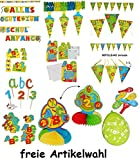Unbekannt 6 Stück _ Steck Kerzen -  ABC + Zahlen  - Kind Steckkerzen - für den Schulanfang & Kindergeburtstag - Geburtstagskerzen / Tischdeko - Deko Schulanfangstisch..