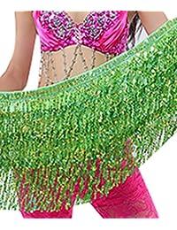 YiJee Belly Dance Accessories Lentejuelas Borla Danza del Vientre Cinturón