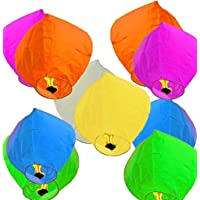 PRINT BHARAT® Sky Lanterns Multicolour Wishing Hot Air Balloon/Flying Night Sky Candle for Diwali/Marriage/Christmas…