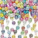 Perlen in Rosenform und mit Funkeleffekt für Kinder zum Basteln und für Schmuck