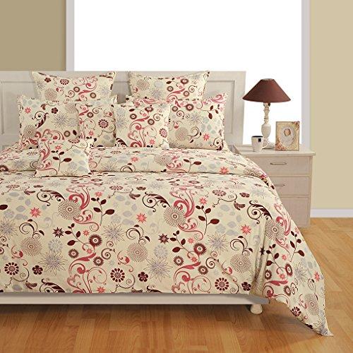 Rosa Und Brown Twin Bettwäsche (Yuga 2 Stück Set Dekorative Rosa und Brown-Twin Size Printed Cotton Bettlaken mit Kissenbezug)