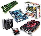 One PC Aufrüstkit | AMD FX-Series Bulldozer FX-8350, 8x 4.00GHz | montiertes Aufrüstset | Mainboard: Gigabyte GA-78LMT-USB3 | 16 GB RAM (2 x 8192 MB DDR3 Speicher 1600 MHz) | CPU Mainboard Bundle | Grafik: 2048 MB AMD Radeon R7 240, VGA, DVI, HDMI | komplett fertig montiert!