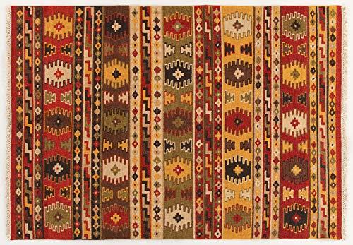 Abc kilim sivas 3 tappeto, rosso, 160x230