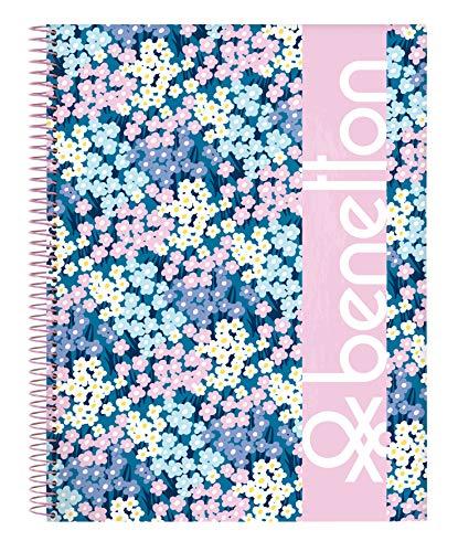 """Benetton Offizielles Notizbuch""""Garden"""" 120 Blatt Hardcover 215 x 310 mm"""