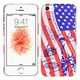 Heartly Flag Printed Design High Quality Hybrid Tough Armor Hard Bumper Back Case Cover For Apple iPhone 5 5S 5G / iPhone SE - USA Amazon