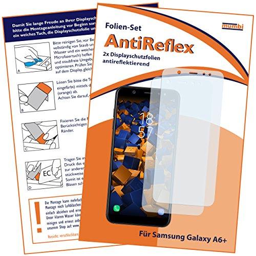 mumbi Schutzfolie kompatibel mit Samsung Galaxy A6+ Folie matt, Bildschirmschutzfolie (2x)