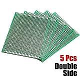 Bluelover 5Pcs Fr-4 Universal Double Side Prototype Pcb Board 7Cm X 9Cm