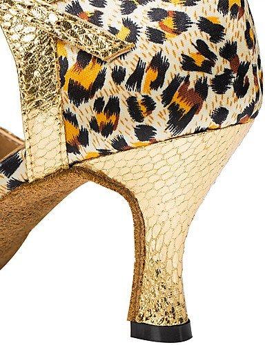 ShangYi Chaussures de danse(Léopard / Autre) -Personnalisables-Talon Aiguille-Satin-Latine / Moderne leopard
