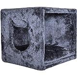 PetPäl Katzenhöhle für Regal wie IKEA Kallax & Expedit | Katzen Kuschelhöhle inklusive Kissen