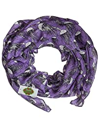 New with Tags Jellyfish Print Design Women's Scarves Large Scarfs Shawl (Purple)