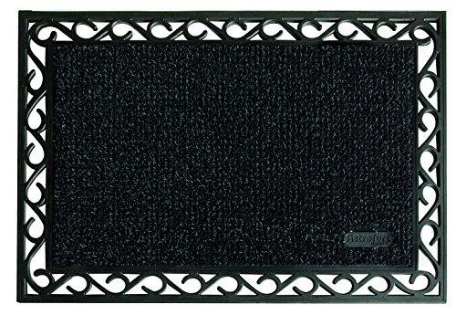 Felpudos Exteriores  de entrada exterior, 60 x 90 cm, color negro