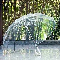 ssby 16uomini e donne bone-style ombrello trasparente, manico lungo automaticamente, Creative Business ombrello ombrello trasparente, resistente e portatile, Bianco