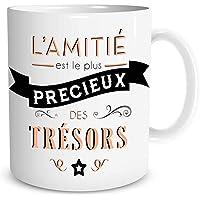 """Mug Ceramique """"L'amitié est le plus précieux des trésors"""""""