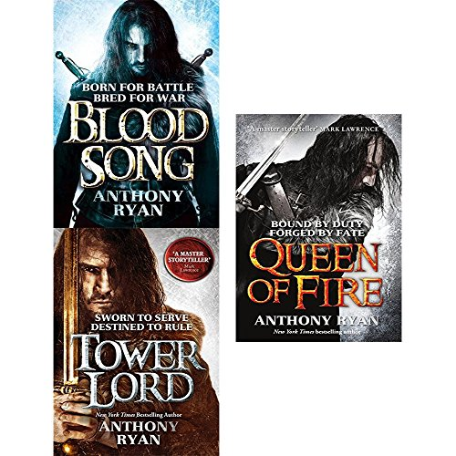 raven's shadow series anthony ryan collection 3 books set (blood song, tower lord, queen of fire)