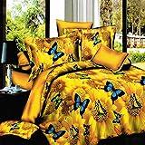 Bazaar 4pcs Kostüm 3D Schmetterlinge Sonnenblume D'Or Färbemittel Reaktivdruck die Größe der Babykleidung von einem aus Polyester Königin von König
