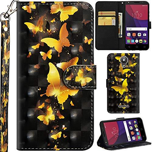 Ooboom Alcatel Pixi 4 5 Inch Funda 3D Flip Folio Wallet Case Cover Carcasa Piel PU...