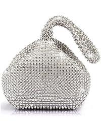 ERGEOB® Femmes Pochette Design Créatif Diamant/Aluminium Sac à main sac de soirée trièdre Partie SoireeSacs lNHoy76